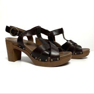 Dansko Brown Platform Sandal Sz.40/9.5 EUC
